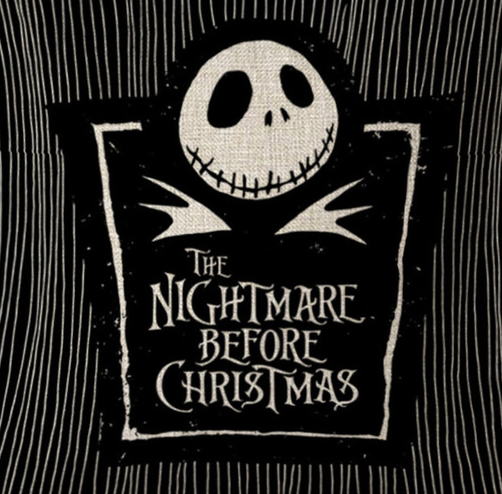Nightmare Before Christmas Cushion Jack Skellington Pin-striped