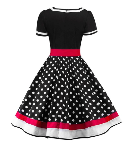 Bethany 50's dress Black &  Red Plus Size