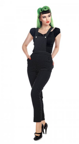 Collectif - Mainline Madelyn Cherry Dungarees|Poisonkandyklothing