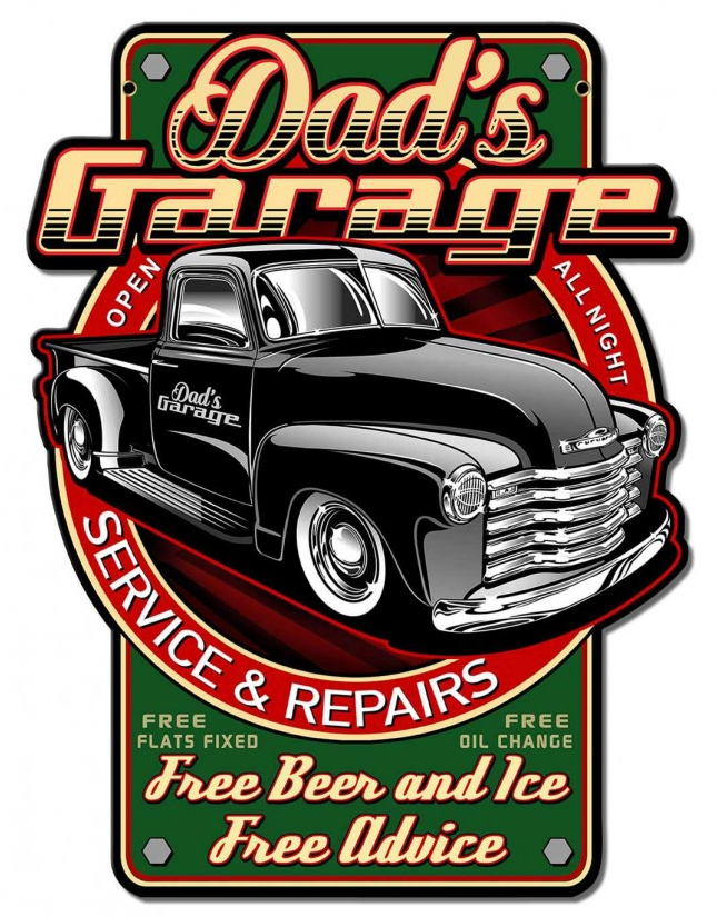 Tin Signs - Dad's Garage Service & Repairs|Poisonkandyklothing