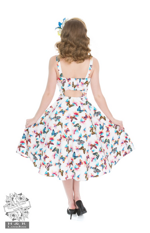 Hearts & Roses Rainbow Butterfly Sundress|Poisonkandyklothing