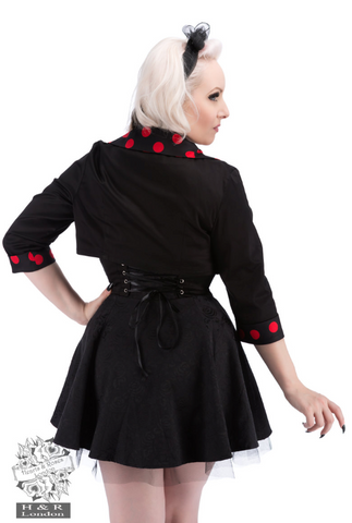 Hearts & Roses Mezzanine Bolero Big Red Polka|Poisonkandyklothing