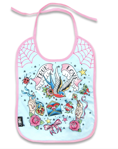 Six Bunnies Baby Bib - True Love
