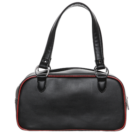 Sourpuss Jinx Tessa Handbag Blk/Red|Poisonkandyklothing