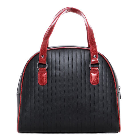 Sourpuss Jinx Tuck N Roll Handbag Blk/Red