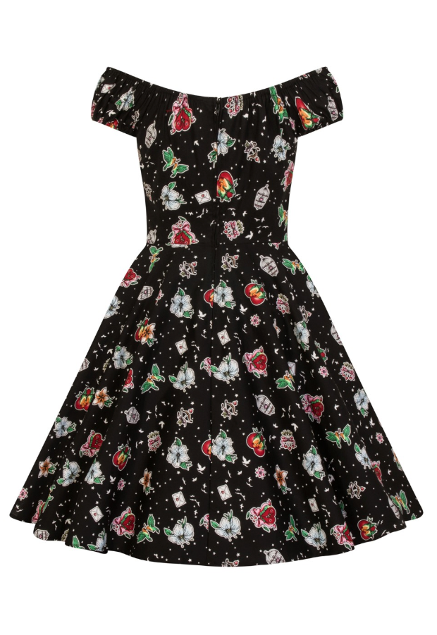 Hell Bunny Lovebird Mid Dress Plus Size