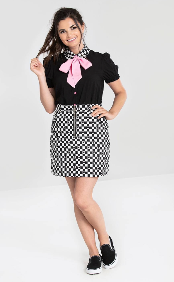 Hell Bunny Pokerface Mini Skirt Plus Size