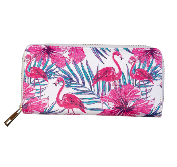Banned Apparel Pink Moon Flamingo Wallet