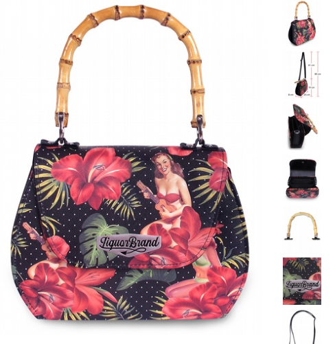 Liquorbrand - Hula Girl Bamboo handle bag