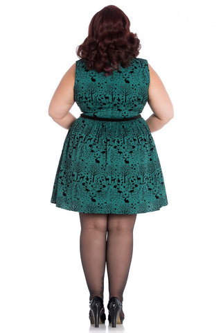 Hell Bunny - Sherwood Mini Dress Green Plus Size