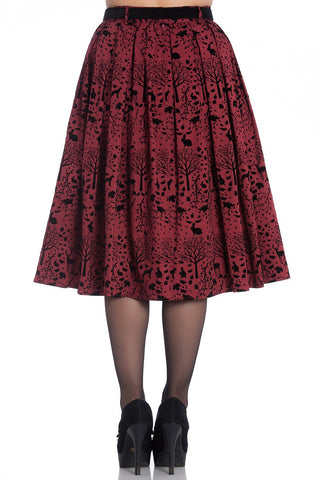 Hell Bunny - Sherwood Skirt Red