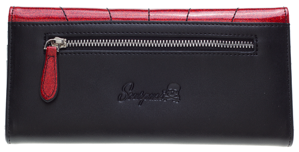 Sourpuss Bat Wing Wallets Red