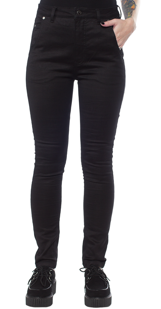 Sourpuss Street Smart Stretch Pants Black|Poisonkandyklothing