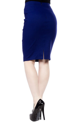 Sourpuss - Essential Blue Pencil Skirt|Poisonkandyklothing