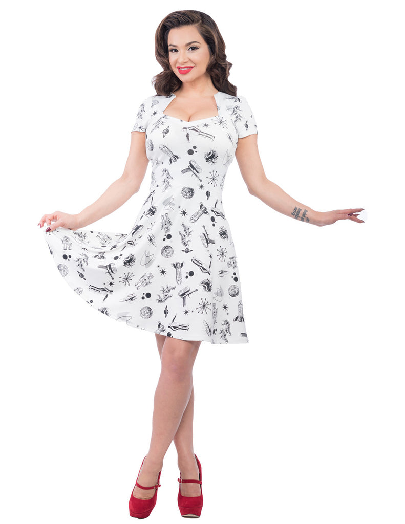 Steady Clothing Space Robot Dress White|Poisonkandyklothing