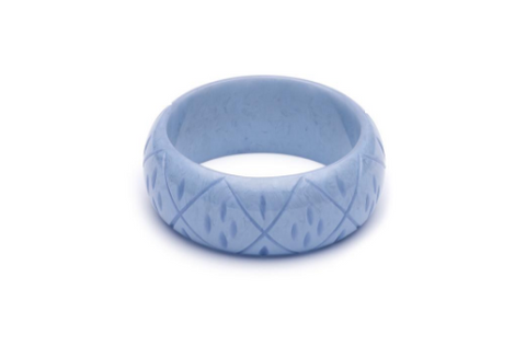 Wide Bluebell Carved Bangle|poisonkandyklothing