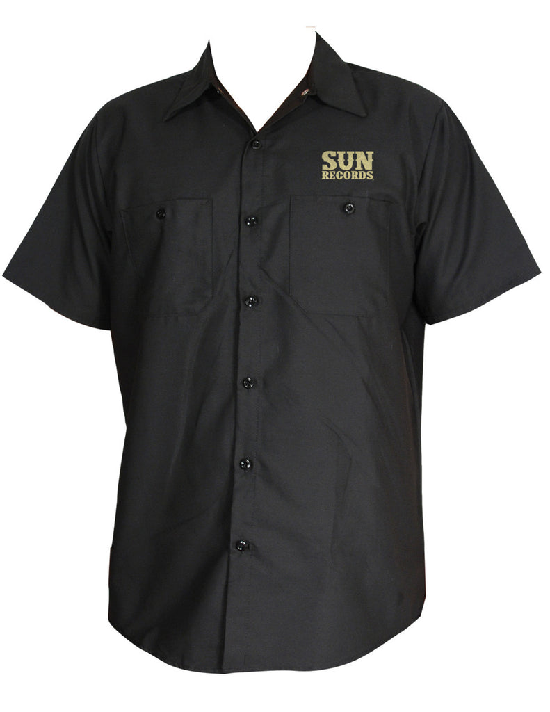Steady Clothing - Sun Record Hop Mens Work shirt Black|Poisonkandyklothing