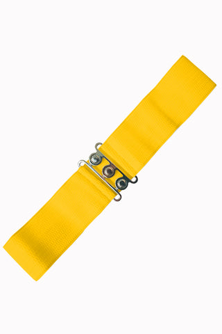 Banned Clothing - Ladies Belt Vintage Stretch Yellow