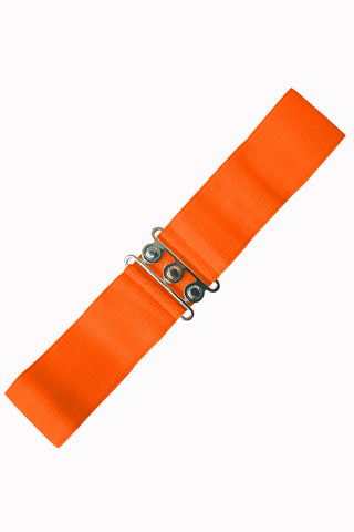 Banned Clothing - Ladies Belt Vintage Stretch Orange