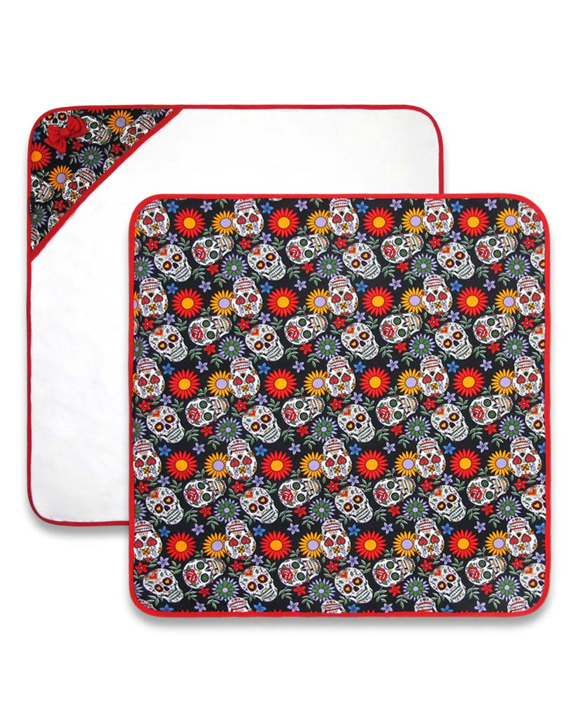 Switchblade Baby Blanket Sugar Skulls|Poisonkandyklothing
