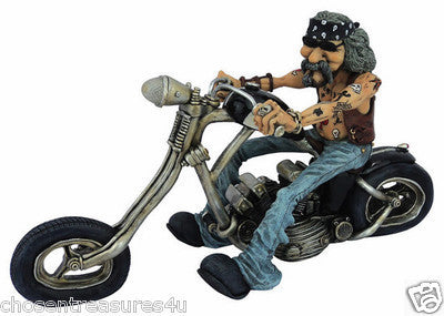 Figurine- Biker Black  Bike