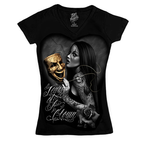 Ladies Tee - DGA V-Neck Tears Of A clown