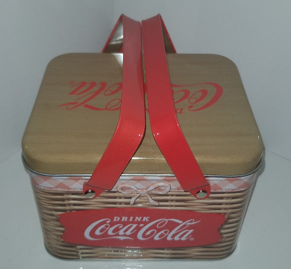 Coca Cola - Tin Picnic Basket with Handles