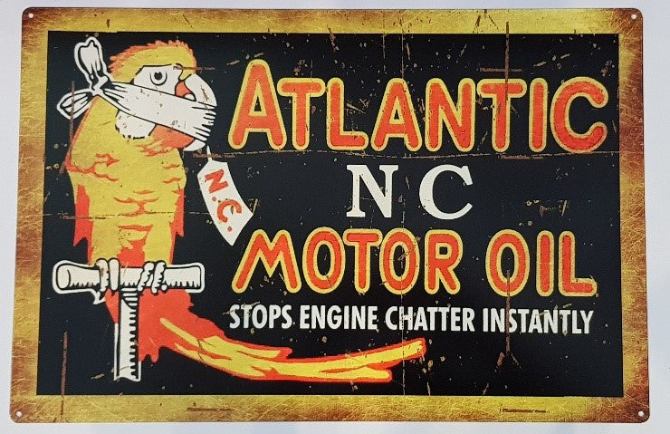 Tin Sign - Atlantic Motor Oil