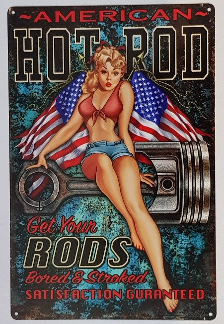 Tin Sign - American Hot Rods