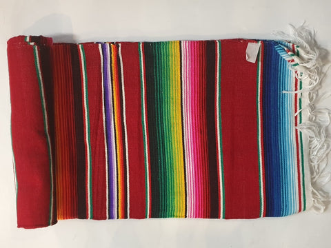 Mexican Blanket Multi in colour With Purple