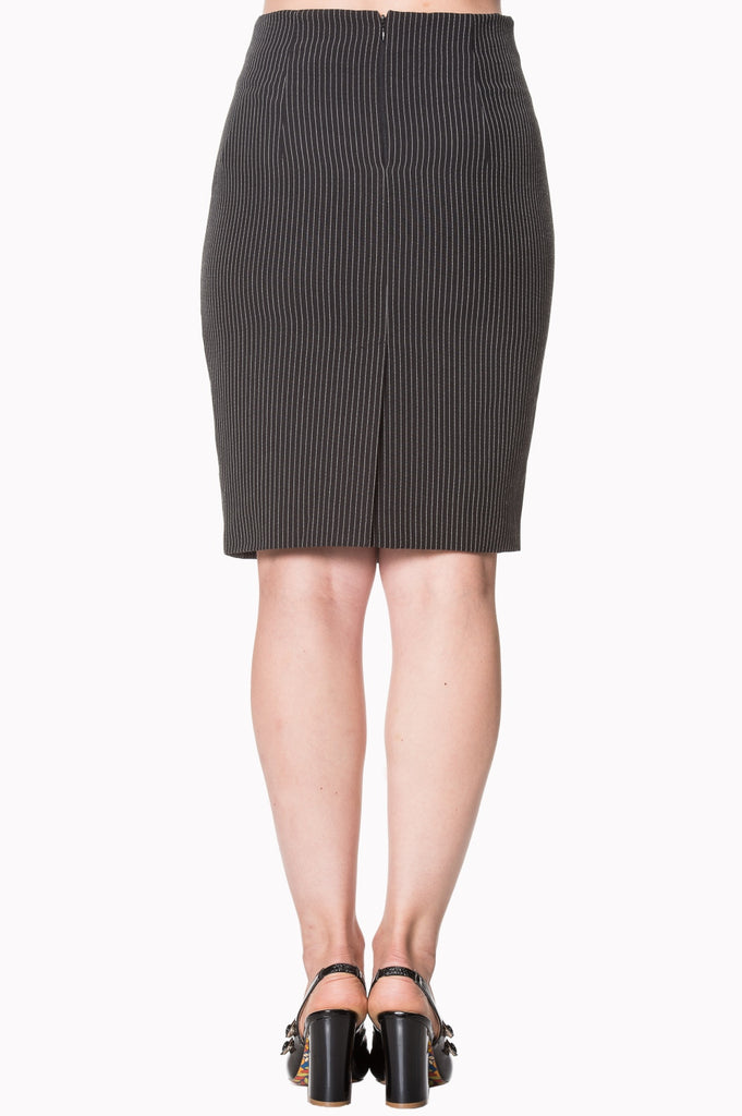 Banned Clothing - Pinstripe Skirt Becky Asst Colours