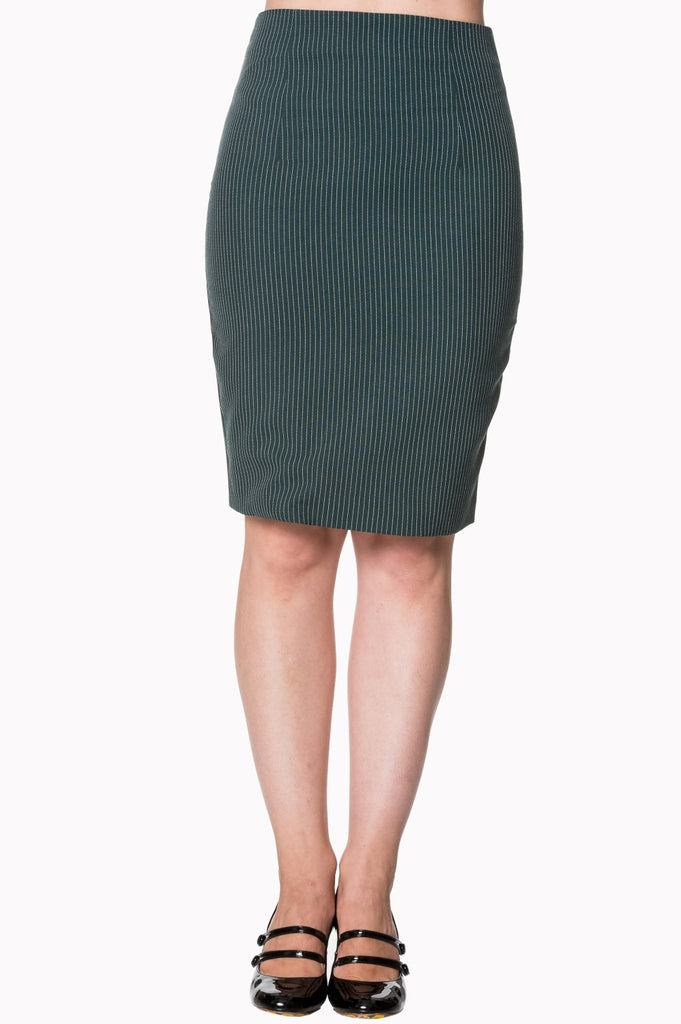 Banned Clothing - Pinstripe Skirt Becky Asst Colours|Poisonkandyklothing