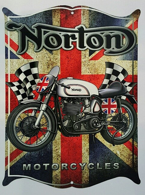 Tin Sign - Norton Motorcycles Western Shield
