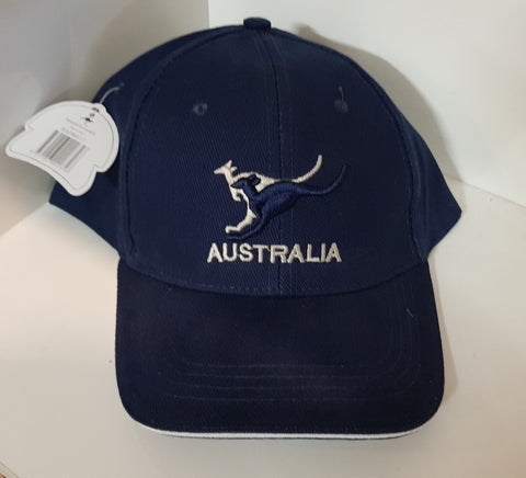 Australian Souvenirs - Australian Brushed Cotton cap BLUE