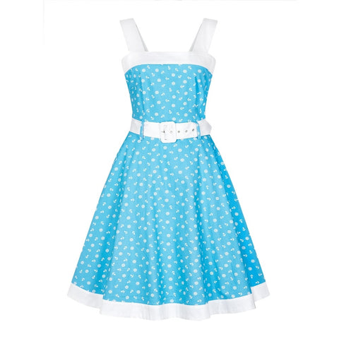 Collectif - Caitlin Nautical Swing Dress Blue|Poisonkandyklothing