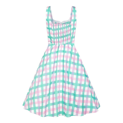 Collectif Choles Candy Gingham Swing Dress|Poisonkandyklothing
