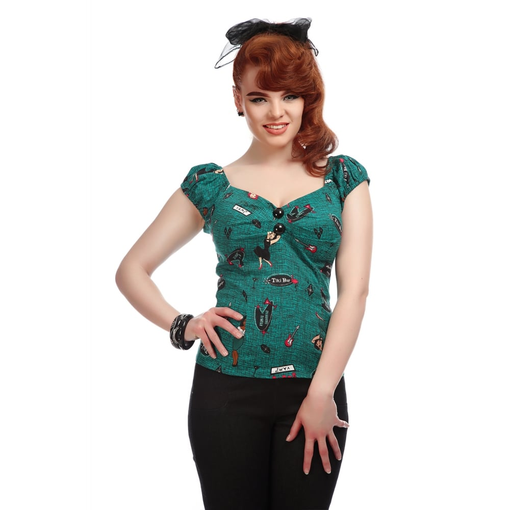 Collectif - Dolores Vegas Vamp Top|Poisonkandyklothing