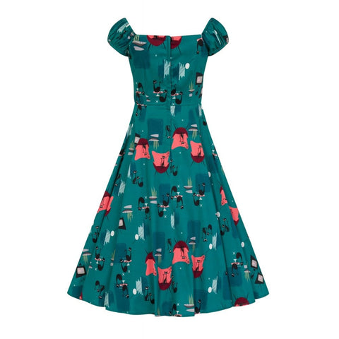 Collectif - Dolores Atomic Cats Doll Dress |Poisonkandyklothing