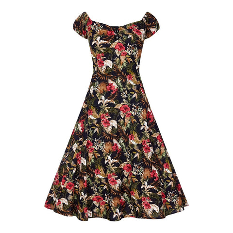 Collectif Mainline Dolores Lanai Hibiscus Dress
