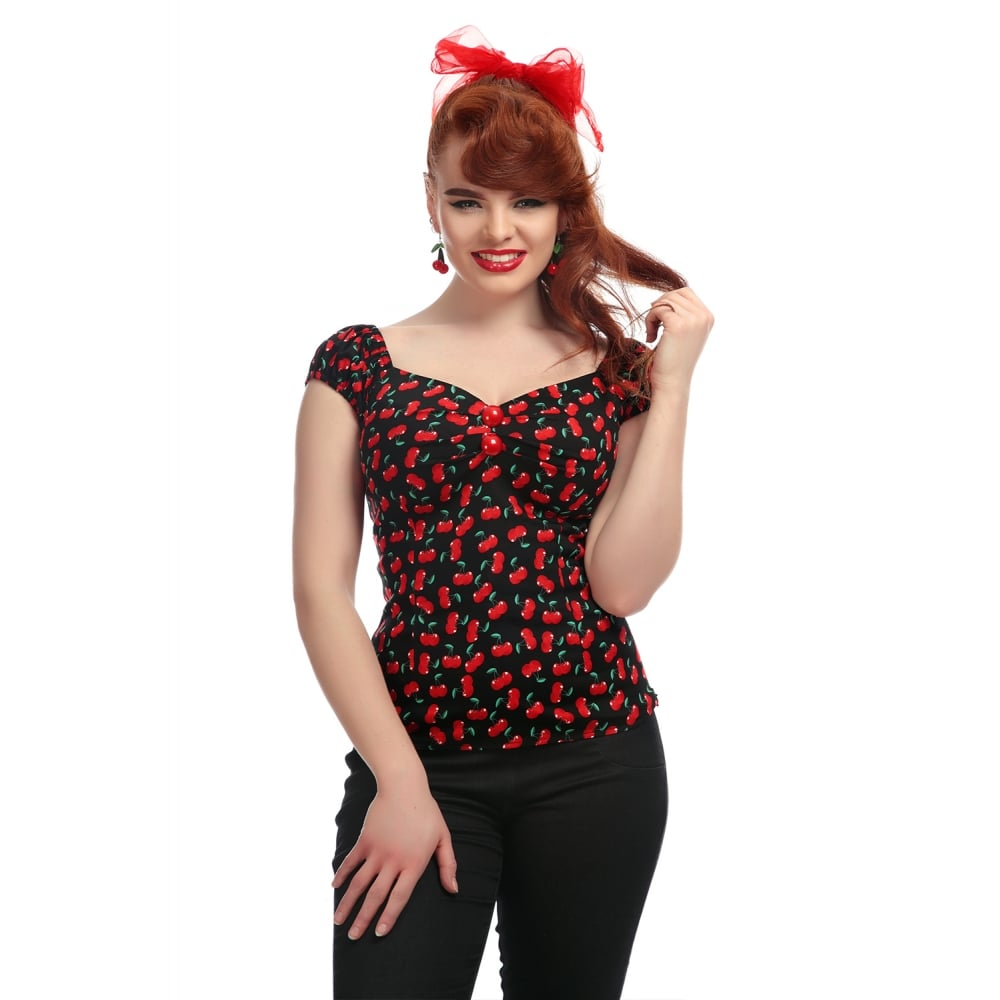 Collectif  - Dolores Small Cherries Top|Poisonkandyklothing