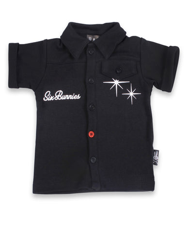 Babies Rockabilly Button up Born to Rock