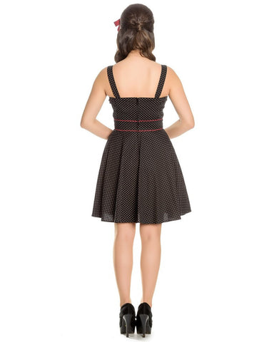 Hell Bunny Black Vanity Mini Dres\Poisonkandyklothing