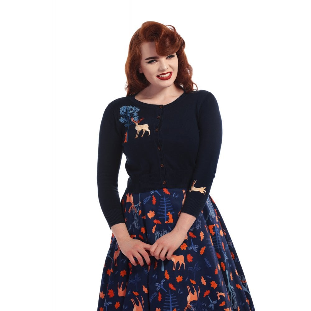 Collectif - Vintage Jessie Forest Friends Cardigan|Poisonkandyklothing