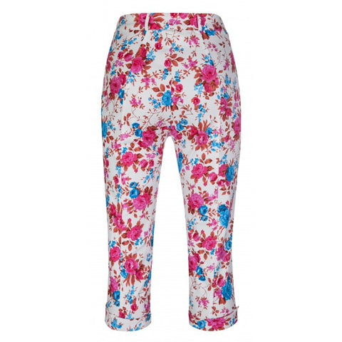Ladies Crop Pants - Lindy Bop 'Kendra' Chic Pretty Pink Blossom