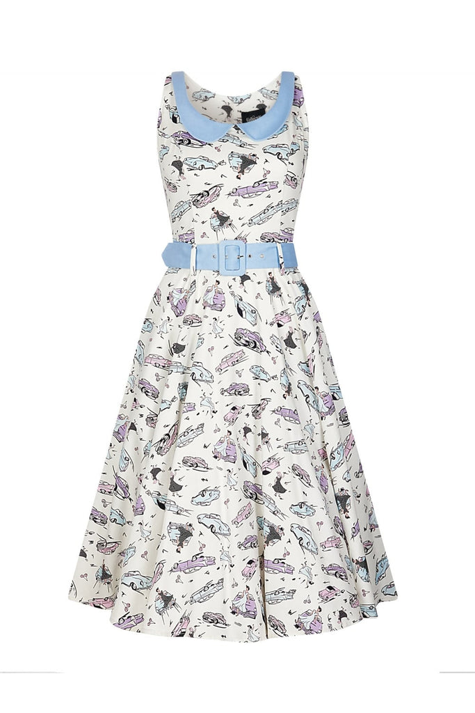 Collectif Mainline Kitty 50's Swing Dress