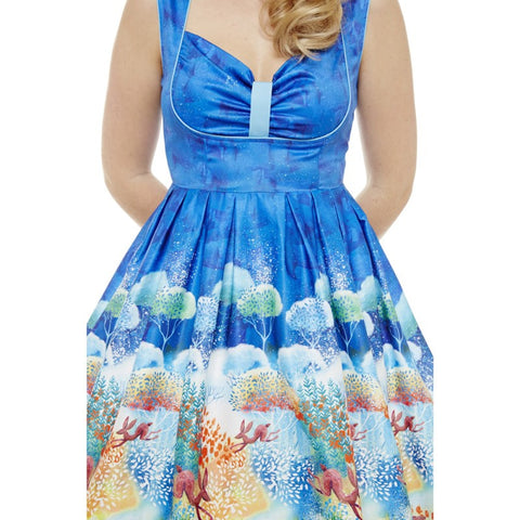 Lindy Bop - Lavoone Hare & Floral Dress