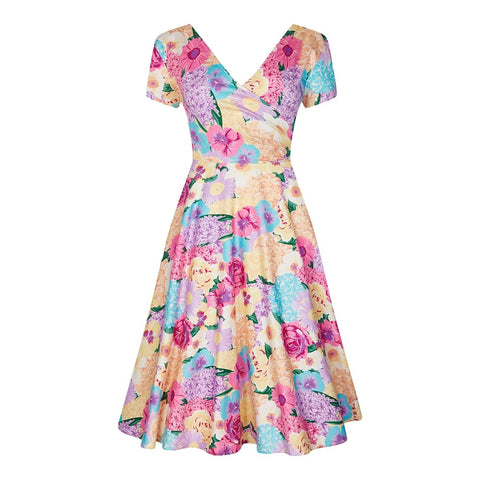 Collectif Maria English Garden Swing Dress|Poisonkandyklothing