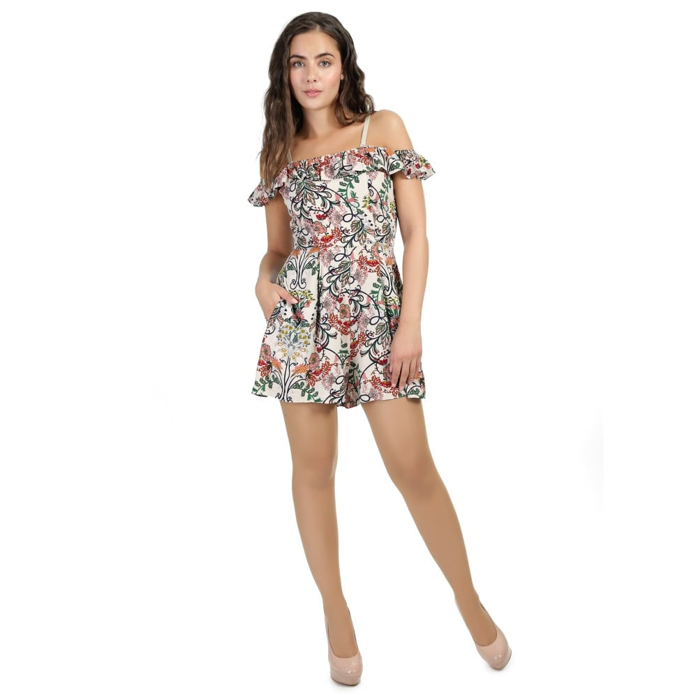 Collectif - Naeemah Floral Playsuit|Poisonkandyklothing
