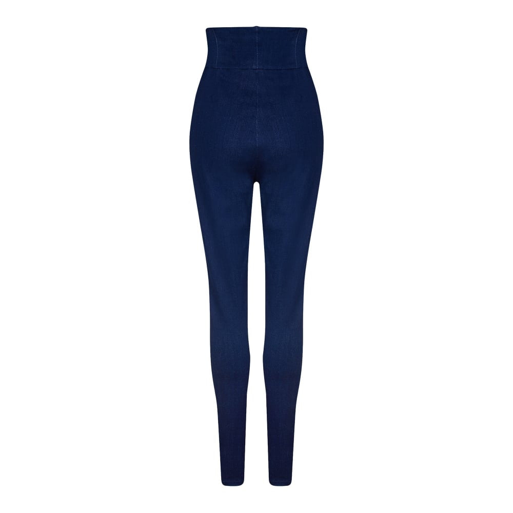 Collectif - Nomi Plain Mainline High Waisted Jeans|Poisonkandyklothing