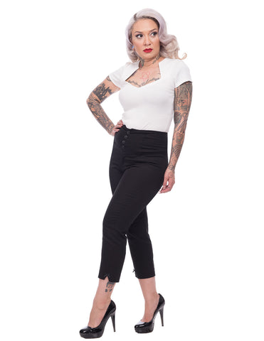 Steady Clothing Swallow Capri Ladies Black